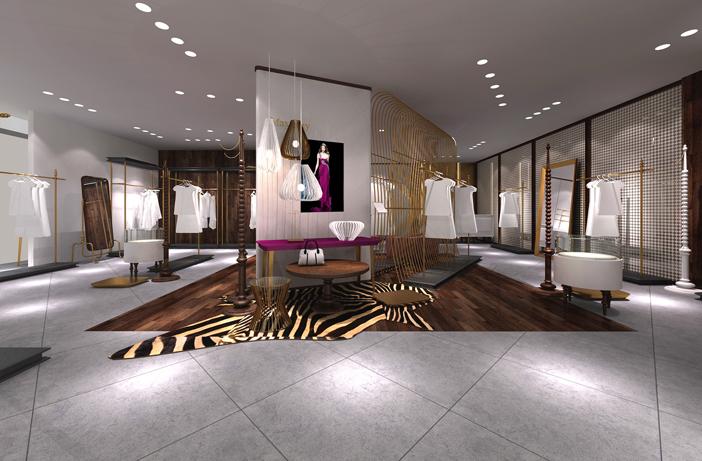 服装终端形象设计专卖店设计服装专卖店si服装展厅设计橱窗概念